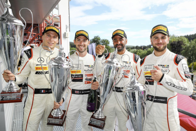 Total 24 Hours of Spa: Four Mercedes-AMG GT3s